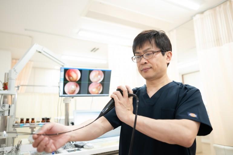 ちば耳鼻咽喉科クリニック診療風景 岩手県盛岡市でホームページ制作はMIRAIZU